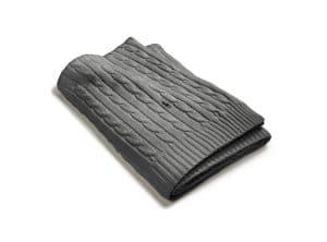 Ralph Lauren Plaid Cable charcoal